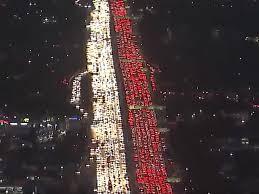 cnn posts aerial of gridlock traffic in los angeles