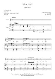 silent night soprano voice sheetmusic2print com
