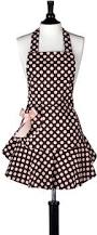 Cute Aprons For Women Amazon Com Jessie Steele Bib Josephine Polka Dot Apron Brown And