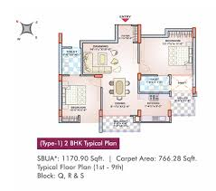 arg rosewood property in ajmer presented by arg group type 1 2 bhk typical plan 1st 9th block q r s