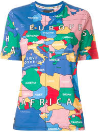 World Map Greece by Love Moschino World Map Print T Shirt Lyst