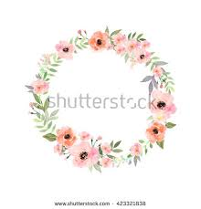 flower wreath watercolor flower wreath stock images royalty free images