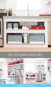 diy modern kitchens homemade modern ep88 kitchen shelves