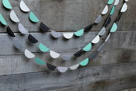 Black White Turquoise Teal Blue by Black White Teal And Silver Wedding Garland Aqua Bachelorette
