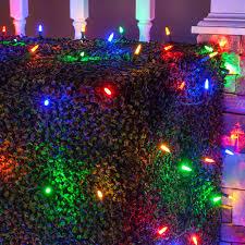 aleko led net mesh string lights white