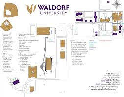 Iowa State Campus Map Waldorf University Campus Map