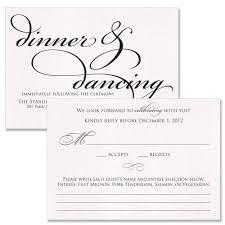 wedding reception card wedding card design simple rsvp insert inspiring sle wedding