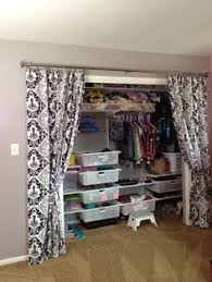 Replace Sliding Closet Doors With Curtains Create A New Look For Your Room With These Closet Door Ideas