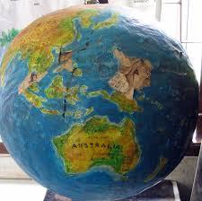 world map globe image how to make a paper mache globe craft