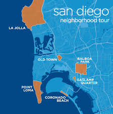 San Diego Map Neighborhoods by San Diego Neighborhood Tour Map Sun Country View