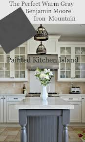 painted kitchen island painted kitchen island benjamin iron and gray