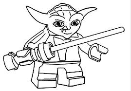 Lego Star Wars Yoda Holding Lightsabers Coloring Pages Action Lego Coloring Pages