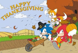 sonic the hedgehog on happy thanksgiving https t co