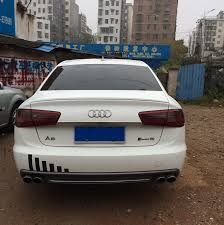 audi a6 spoiler for audi a6 spoiler high quality abs material car rear wing primer