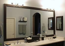 How To Frame A Bathroom Mirror Diy Wood Frame Bathroom Mirror Bathroom Mirrors Ideas