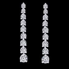 dimond drop graduated diamond drop earrings 947