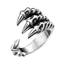 dragon jewelry rings images Fansing jewelry stainless steel dragon claw rings for mens and jpg