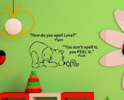 online shop how do you spell love winnie the pooh vinyl wall art
