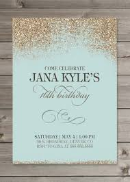 Engagement Invitation Cards Online U0027s Birthday Party Glitter Invitation 5x7 By Gaiadesignstudios