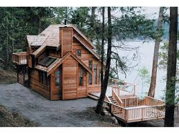 cabin plans lakefront home design small beach cottage house narrow