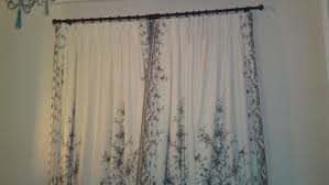 elegant curtain peacock motif with combination white and black