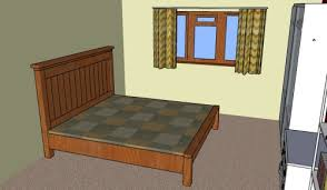 farmhouse bed plans howtospecialist how to build step by step