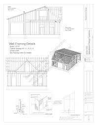 ree barn plans g200 28 u0027 x 36 u0027 saltbox style garage plan