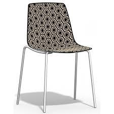 chaise de cuisine chaise de cuisine empilable en plexiglas alhambra