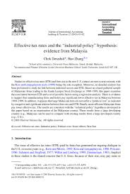 effective tax rates and the gç industrial policy gç hypothesis evide u2026