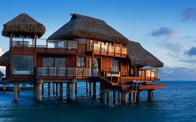 House Over Water Conrad Bora Bora Nui Resort Has Two Story Bungalows Insidehook