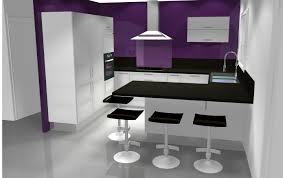 cuisine blanche mur aubergine cuisine aubergine et gris intérieur intérieur minimaliste