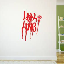 lax love graffiti removable lulagraphix wall decal lulagraphix lax love graffiti removable lulagraphix wall decal