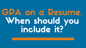 gpa on a resume when should you include it zipjob