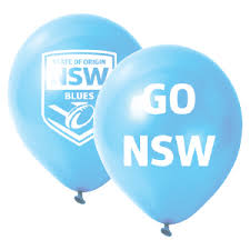 nsw state of origin balloons pk 25 limited stock supplies