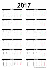 yearly calendar 2017 2017 templates franklinfire co