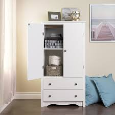 Discount Armoires Amazon Com Prepac Monterey White 2 Door Armoire Kitchen U0026 Dining
