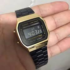 casio a168 casio a168 black gold s fashion watches on carousell
