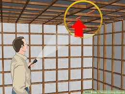 How To Soundproof A Basement Ceiling by How To Install Ceiling Drywall 14 Steps With Pictures Wikihow