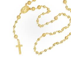 gold rosary yellow gold rosary