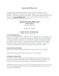 security officer resume security officer resume exles guard unarmed resumes skills