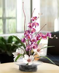 nature inspired silk flower arrangements at petals