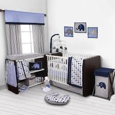 Gingham Crib Bedding Blue Elephant Cribg Decorating For Fearsome Solid Light Baby