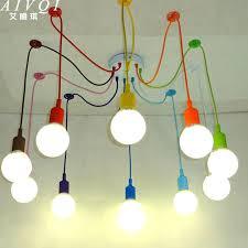 Cable Pendant Lighting Silicone Colorful Pendant Lights Diy Multi Color E27 Bulb Holder