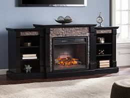Electric Fireplace Entertainment Center Gallatin Infrared Electric Fireplace Entertainment Center In Black