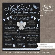 baby shower poster baby shower poster elephant ba shower chalkboard poster to