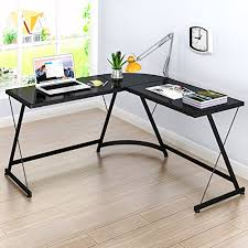 L Corner Desk Lecrozz L Shaped Home Office Corner Desk Wall S Furniture Decor