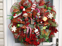 Red And White Christmas Door Decorations by Decoration Foxy Accessories For Christmas Wall And Door