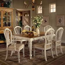 Antique Dining Room Table Wilshire Rectangle Dining Table W 2 Leaves In Antique White