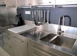 meuble cuisine inox bross cuisine inox bross 12 avec sur mesure vier mobilier table cr dence