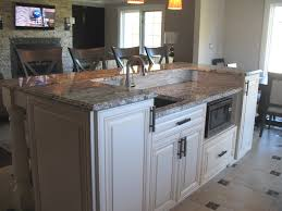 second kitchen islands chiefswood kitchen with modern touches two tiered